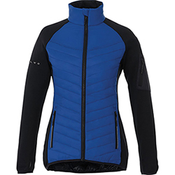 LADIES HYBRID JACKET-BLUE Thumbnail