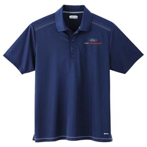 Navy Ford Performance Micro Poly Polo