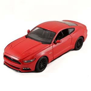 1/18th Red 2015 Mustang