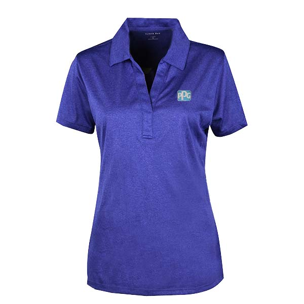 Ladies Cobalt Heather Polo Image